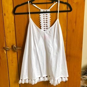 Lily Pulitzer white tank top